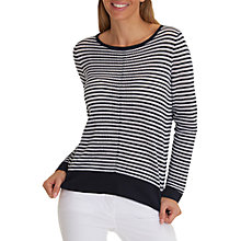Buy Betty Barclay Striped Jumper, Dark Blue/White Online at johnlewis.com