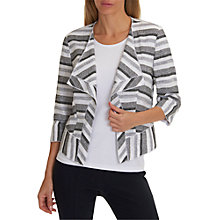 Buy Betty Barclay Textured Stripe Jacket, White/Black Online at johnlewis.com