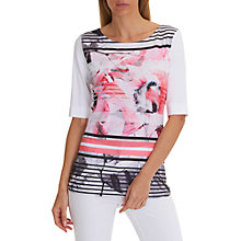 Buy Betty Barclay Graphic Leaf Print T-Shirt, Red/White Online at johnlewis.com