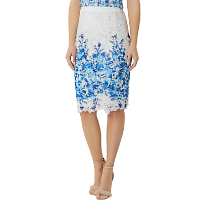 Damsel in a Dress Amily Skirt, White/Blue