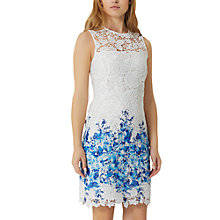 Buy Damsel in a dress Amily Boarder Dress, White/Blue Online at johnlewis.com