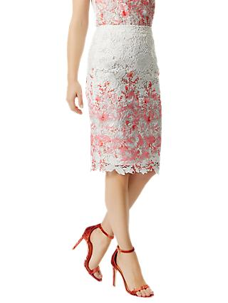Damsel in a Dress Amily Skirt, Raspberry/Multi