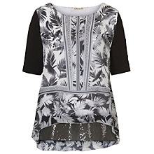Buy Betty Barclay Print and Sequin Tunic Top, Black/White Online at johnlewis.com