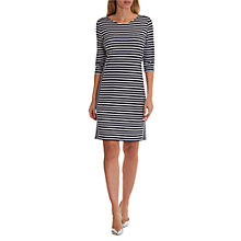 Buy Betty Barclay Sporty Striped Dress, Dark Blue/White Online at johnlewis.com