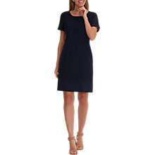 Buy Betty Barclay Broderie Anglaise Dress, Dark Sky Online at johnlewis.com