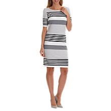 Buy Betty Barclay Striped Shift Dress, Cream/Dark Blue Online at johnlewis.com