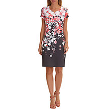Buy Betty Barclay Floral Print Jersey Dress, Red/Grey Online at johnlewis.com
