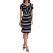 Buy Betty Barclay Contrast Stripe Shift Dress, Dark Blue/Cream Online at johnlewis.com