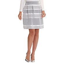 Buy Betty Barclay Stripe Satin Finish Skirt, Grey/Cream Online at johnlewis.com