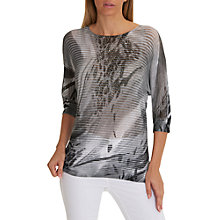 Buy Betty Barclay Graphic Print Embellished Top, Grey/White Online at johnlewis.com