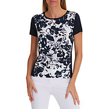 Buy Betty Barclay Floral Print T-Shirt, Dark Blue/Cream Online at johnlewis.com