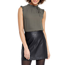 Buy Oasis Ruffle Neck Tie Top Online at johnlewis.com