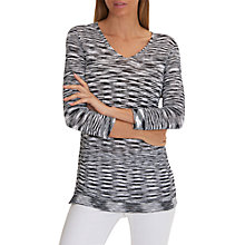 Buy Betty Barclay Textured Tunic Top, Dark Blue/White Online at johnlewis.com