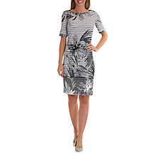 Buy Betty Barclay Floral and Stripe Print Dress, White/Black Online at johnlewis.com