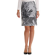 Buy Betty Barclay Fern Leaf Print Skirt, White/Black Online at johnlewis.com
