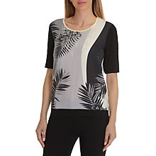 Buy Betty Barclay Palm Leaf Print Top, Black/Multi Online at johnlewis.com
