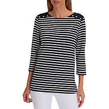 Buy Betty Barclay Harbour Striped Top, Dark Blue/White Online at johnlewis.com
