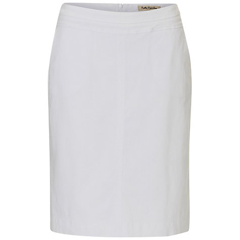Buy Betty Barclay Cotton Blend Pencil Skirt, Bright White Online at johnlewis.com
