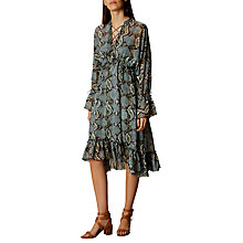 Buy Karen Millen Snake Print Dress, Blue/Multi Online at johnlewis.com