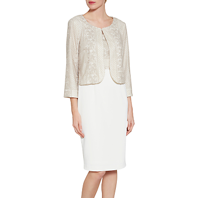 Gina Bacconi Embroidered Bodice Crepe Dress And Jacket Review