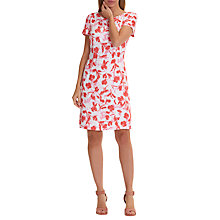 Buy Betty Barclay Floral Print Dress, White/Red Online at johnlewis.com