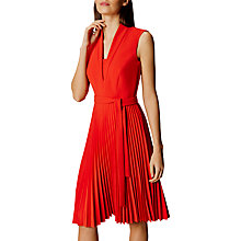 Buy Karen Millen Shawl Collar Pleated Dress Online at johnlewis.com