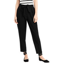 Buy Oasis Tapered Leg Trousers, Black Online at johnlewis.com