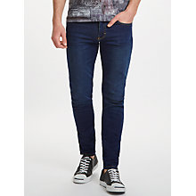 Buy J. Lindeberg Slim Fit Jeans, Mid Blue Online at johnlewis.com