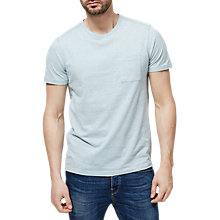 Buy Selected Homme Melange Pocket T-Shirt, Cloud Blue Online at johnlewis.com