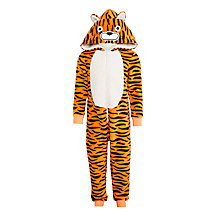 Buy John Lewis Children's Tiger Onesie, Orange Online at johnlewis.com