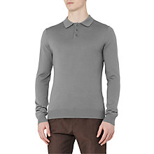Buy Reiss Mansion Merino Polo Jumper, Steel Online at johnlewis.com