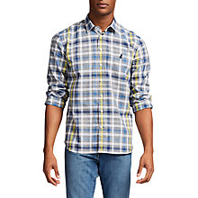 Buy Thomas Pink Harris Check Classic Fit Shirt, Black/Blue Online at johnlewis.com