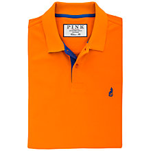 Buy Thomas Pink Brandon Plain Polo Shirt, Orange/Blue Online at johnlewis.com