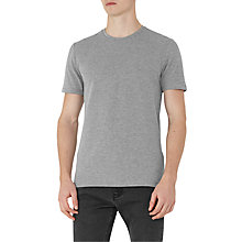 Buy Reiss Shine Honeycomb Weave T-Shirt, Grey Online at johnlewis.com
