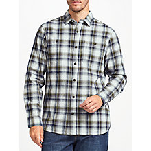 Buy John Lewis Ombre Check Shirt, Blue Online at johnlewis.com