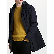 Buy Kin by John Lewis Padded Hooded Mac, Navy Online at johnlewis.com