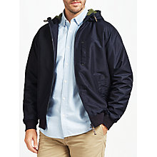 Buy John Lewis Hooded Sports Jacket, Navy Online at johnlewis.com