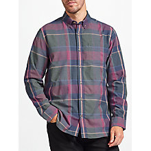 Buy John Lewis Large Scale Check Marl Shirt, Blue Online at johnlewis.com