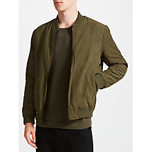 Buy Kin by John Lewis Soft Feel Bomber Jacket, Khaki Online at johnlewis.com