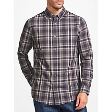 Buy John Lewis Smarter Dobby Check Shirt, Purple Online at johnlewis.com