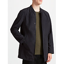 Buy Kin by John Lewis Baseball Neck Bonded Mac, Navy Online at johnlewis.com