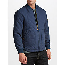 Buy JOHN LEWIS & Co. Quilted Bomber Jacket, Navy Online at johnlewis.com