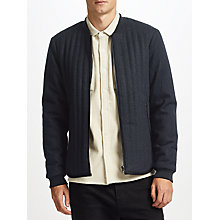 Buy Kin by John Lewis Vertical Quilted Wool Jacket, Charcoal Online at johnlewis.com