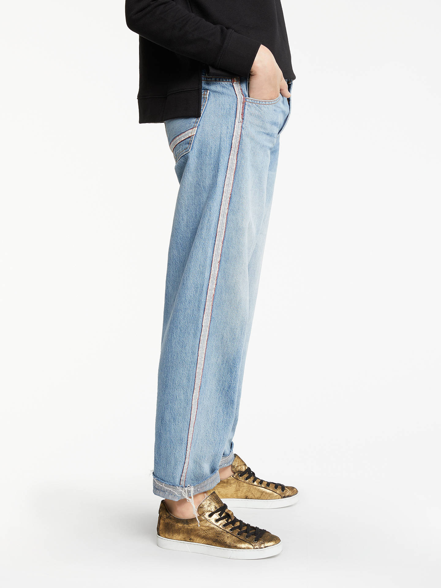 Buy AND/OR Brea Selvedge Stripe Jeans, Rose Bowl, 28 Online at johnlewis.com