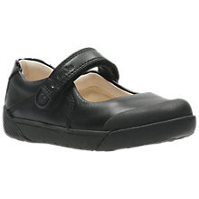 Buy Clarks Infant Lilfolk Bud Shoes, Black Leather Online at johnlewis.com
