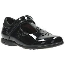 Buy Clarks Children's Trixi Pip Pre Patent T-Bar School Shoes, Black Online at johnlewis.com