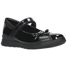 Buy Clarks Children's Mayes Wish Patent School Shoes, Black Online at johnlewis.com