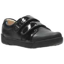Buy Clarks Infant Lil Folk Bel Double Rip Tape Shoes, Black Online at johnlewis.com