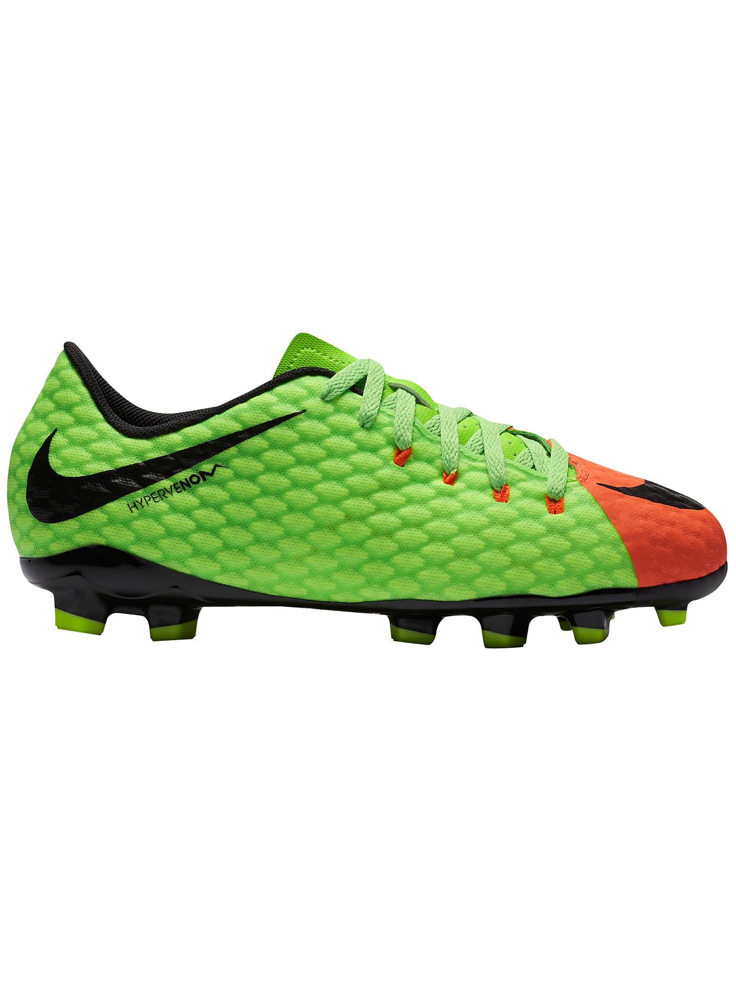 new arrival 6658b 0cc03 Buy Nike Children s HyperVenom Phelon III FG Football Boots, Multi, 10 Jnr  Online at ...