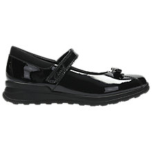 Buy Clarks Infant Mariel Wish Mary Jane Shoes, Black Patent Online at johnlewis.com
